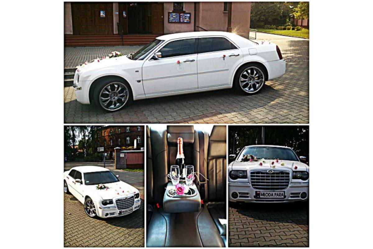 Chrysler 300c do Ślubu/Wesela Biała Perła