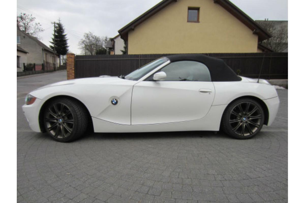 Kabriolet do ślubu BMW Z4 Roadster Biała Perła