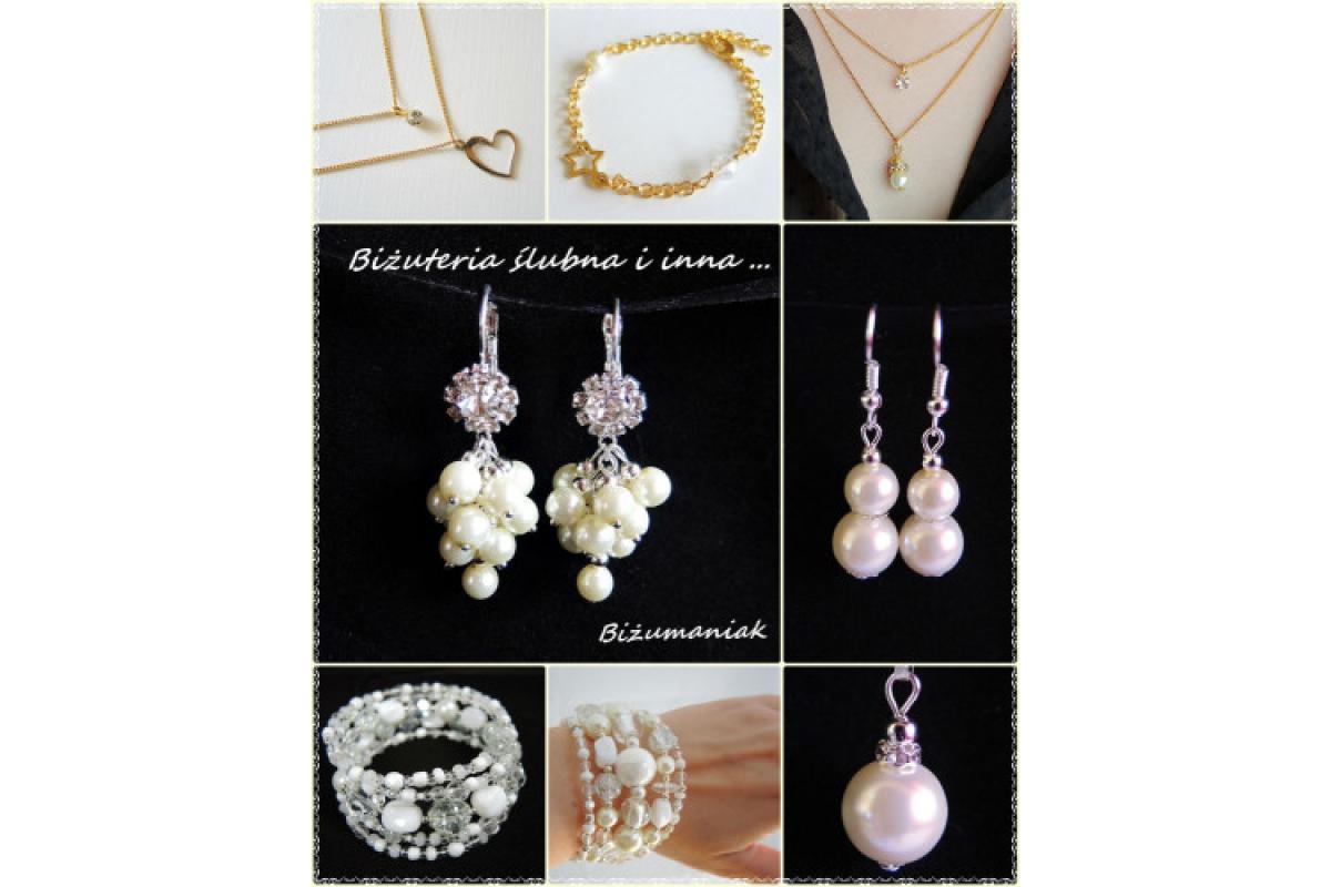 Biżuteria ślubna według pomysłu klientki, również gotowe wzory.