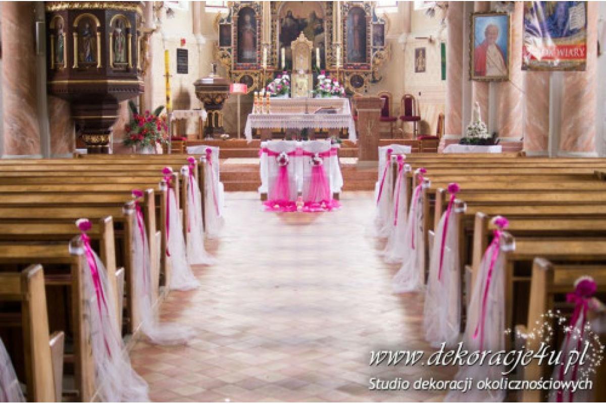 Dekorowanie sal weselnych, kościołów, samochodów